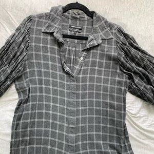 Something Navy Checkered Button-up Flannel